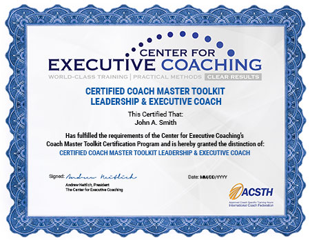 Coach Master Toolkit: Executive Coaching Tools | Center For