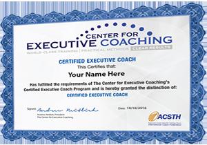 executive coaching certification programs center for executive