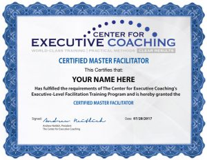 Center for Executive Coaching Master Facilitator Certificate